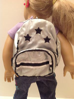 Metallic Star Backpack for 18 inch American Girl Dolls