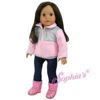 Pink Fleece for 18 inch American Girl Dolls