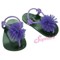 Purple Chiffon Sandals for 18 inch American Girl Dolls