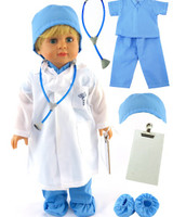 Dr. Scrubs and Lab Coat for 18 in American Girl Dolls