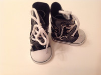 Black Hightops for 18 inch American Girl Dolls