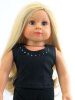 Black Rhinestone Tank for 18 inch American Girl Dolls