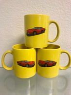 Yellow Car Mug