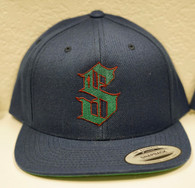 Navy/Green Snap Back