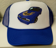 Blue Car Trucker Hat