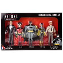 "The New Batman Adventures ""Heroes Set"" - Batman, Robin, Batgirl, Gordon, Alfred"