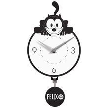 Crouching Felix Mini Wall Clock