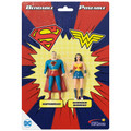 "Superman & Wonder Woman 3"" Bendable Pair"