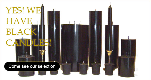 Yes we have Black Candles!