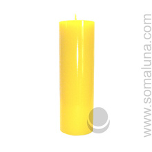 Summer Yellow 9.5 x 3 Pillar Candle