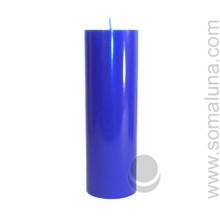 Lapis Blue 9.5 x 3 Pillar Candle