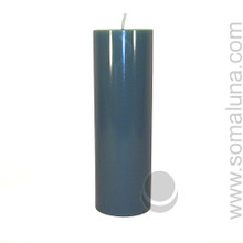 Sea Green 9.5 x 3 Pillar Candle