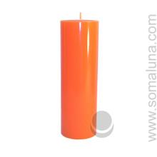 Mandarin Orange 9.5 x 3 Pillar Candle