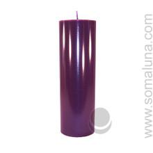 Velvet Eggplant 9.5 x 3 Pillar Candle