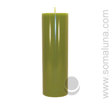 Springtime Green 9.5 x 3 Pillar Candle