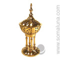 Brass Byzantine Incense Burner, 7 inch