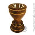 Wooden Chalice Incense Burner