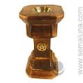 Wiccan Pentacle Wooden Incense Burner