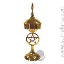 Brass Pentacle Incense Burner