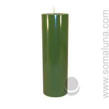 Tropical Green 9.5 x 3 Pillar Candle