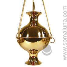 Brass Hanging Incense Burner, 8 inch