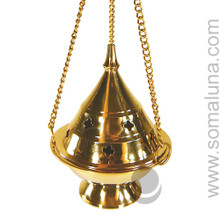 Brass Conical Hanging Burner, 5 inch