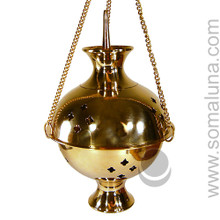 Brass Hanging Burner, 9 inch