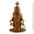 Brass Church Charcoal Burner