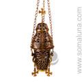 Brass Hanging Church Charcoal Burner