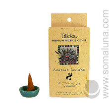 Triloka Natural Herbal Incense Cones, Arabian Jasmine