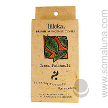 Triloka Natural Herbal Incense Cones, Green Patchouli