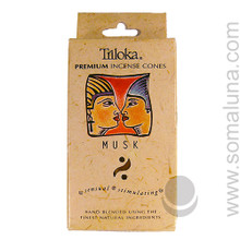 Triloka Natural Herbal Incense Cones, Musk