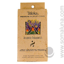 Triloka Natural Herbal Incense Cones, Assorted 1