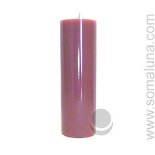 Country Mauve 9.5 x 3 Pillar Candle