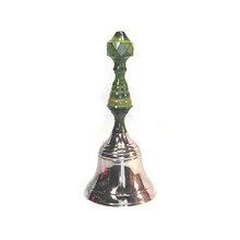 Green Handled Silver Bell