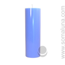 Morning Blue 9.5 x 3 Pillar Candle