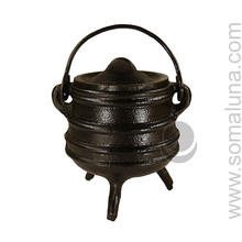 Cast Iron 'Stacked' Cauldron, 4 inch