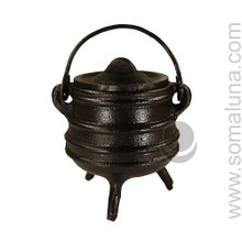Cast Iron 'Stacked' Cauldron, 4 inch