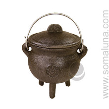 Quality Iron Pentacle Cauldron, 4.5 inch
