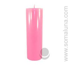 Lotus Pink 9.5 x 3 Pillar Candle