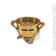 Brass Cauldron Incense Burner, Small
