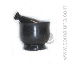 Black Soapstone Mortar & Pestle