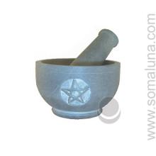 Gray Stone Pentacle Mortar & Pestle