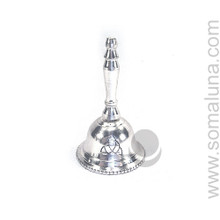 Silver Plated Celtic Triquetra Hand Bell