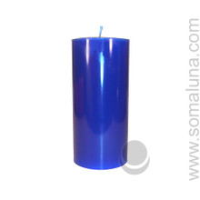 Lapis Blue 6.5 x 3 Pillar Candle
