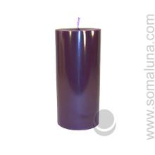 Velvet Eggplant 6.5 x 3 Pillar Candle
