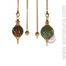 Brass and Gemstone Pendulum
