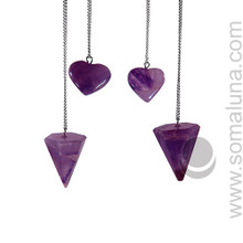 Amethyst Heart Pendulum