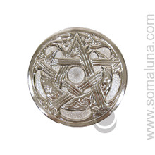 Woven Pentacle Moon Altar Paten, large