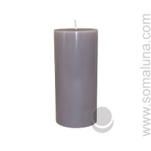Silver Gray 6.5 x 3 Pillar Candle